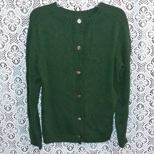 PRICE ⬇️J Jill Chunky Dark Green Sweater